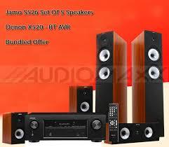 denon speakers. denon x540bt avr with s-526hcs3 cinema speakers 5.0 pack - powerfull 750w. | ebay