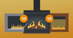 electric fireplace vs wood fireplace vs gas fireplace cost