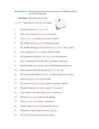 Homophones Homographs Homonyms Worksheets Worksheets for all ...