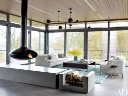designer poonam khanna furnished the interiors of this house in new york s hudson valley grouping bddw