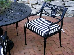 black and white striped outdoor chair