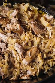 slow cooker pork and sauer