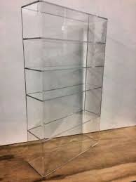 acrylic lucite countertop display case showcase box cabinet 14 x 4 1 4