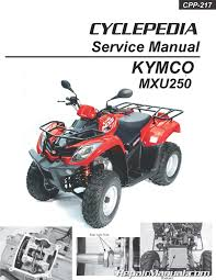 kymco mxu 250 atv printed service manual repair manuals online kymco mxu 250 atv printed service manual page 1
