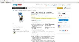 Celkon A119Q Signature HD for Rs 99 ...