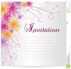 blank invitation template royalty stock photos image  invitation template blank multicolored abstract flowers royalty stock photo