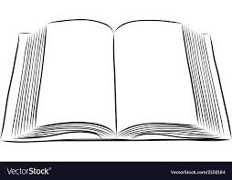 open book hand draw vector image