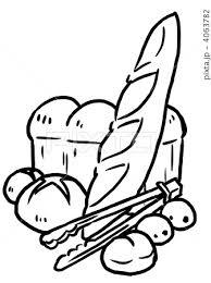 フランスパン ペン画2 のイラスト素材 4063782 Pixta