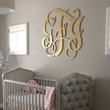 monogram wall decals vintage monogram wall decal