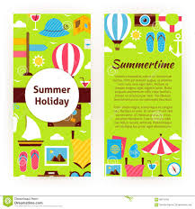 Vector Flyer Template Of Flat Design Summer Holiday Concept