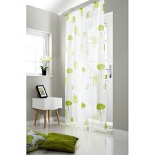 tuscany lime green fl rod pocket voile curtain panel
