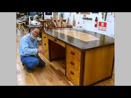 Making a Veneered Executive Desk Part 6-1, Drawer Parts: Andrew  Pitts~FurnitureMaker - YouTube