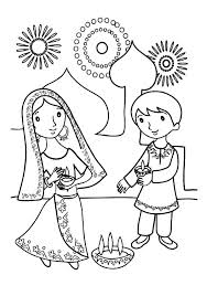 Small Picture Kids Celebrate Diwali Coloring Page NetArt