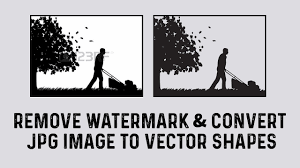 Remove Watermark Convert Jpg Image To Vector Shapes Photoshop Illustrator