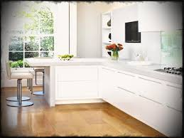cute l shaped kitchen designs with breakfast bar and paint colors white cabinets also light wood