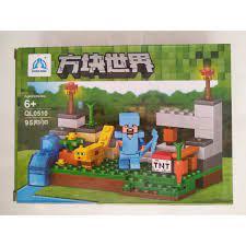 ĐỒ CHƠI] [HÀNG ĐẸP GIÁ RẺ] đồchơi cho bé - Bộ đồ chơi xếp hình lego - Lego  Khối xây dựng Minecrafted (SP273) [AN TOÀN]