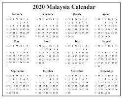 June July 2020 Calendar Free Malaysia Calendar 2020 With Holidays Pdf Excel