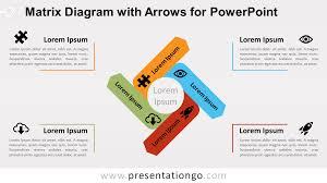 Arrow Of Light Color Chart 2018 Matrix Diagram W Arrows For Powerpoint Presentationgo Com