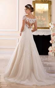 off the shoulder lace wedding dress with sleeves stella york