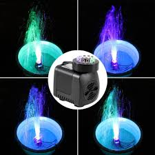 Fountain Lights And Pumps Us 5 54 25 Off 2017 Submersible Water Pump With 12 Led Lights 600l H 10 W For Aquarium Fish Tank Pond Fountain 220 240v Us Plug New Arrival In