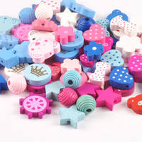 15mm 10pcs <b>Mixed</b> color freehand sketching leopard print Wooden ...