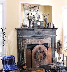 black fireplace mantel painting the surround debbiedoo s 3