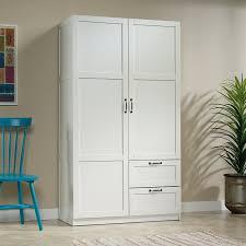 Amazoncom Sauder Large Storage Cabinet Soft White Finish Kitchen
