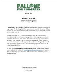 Congressional Internship Cover Letter Basixx