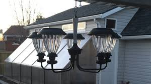 one other image of photo voltaic powered out of doors chandelier