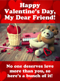 happy valentine s day friends. Wonderful Valentine You Deserve Lots Of Love  Happy Valentineu0027s Day Card For Friends With Valentine S