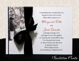 Affordable Customized Wedding Invitations Kim Anderson Panel W Optional Ribbon