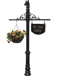 Decorative Sign Posts Post WScroll Arms Hanging Sign Free Shipping 36