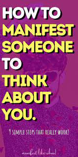 Check spelling or type a new query. How To Manifest Someone To Think About You Be Obsessed