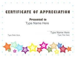 Free Thank You Certificate Templates Appreciation Template