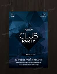 Club Flyers Address Club Party Free Minimal Psd Flyer Template Psd Flyers