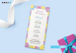 Sample Breakfast Menu Template Enchanting 48 Birthday Menu Templates Free Sample Example Format Download