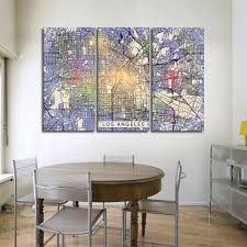 on wall art stores los angeles with colorful los angeles map multi panel canvas wall art elephantstock