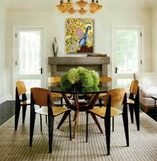 fresh green flowers on round glass top table for dining room 16 nice ideas of