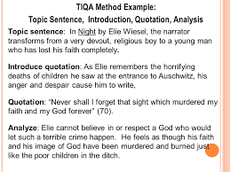 topic sentence introduction quotation analysis ppt video  topic sentence introduction quotation analysis