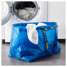 carrier bag storage. ikea frakta carrier bag, large easy to keep clean \u2013 just rinse and dry. bag storage e