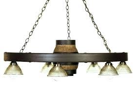 double tier lantern reion cast wagon wheel chandelier diy