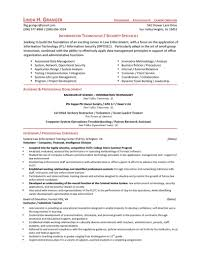 information technology  security specialist resumefree resume templates