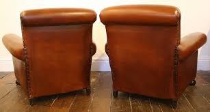 Club Chair Antique Leather Pair ...