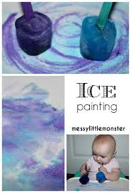 art and craft ideas for toddlers pinterest. ice painting thats taste safe for babies toddlers and preschoolers. a perfect process art technique craft ideas pinterest \