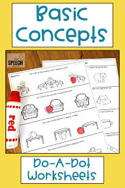 Basic Concep Basic Concepts Worksheets Preschool Speech Therapy Speech