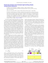 Physics Project On Light Emitting Diodes Pdf Enhanced Emission From Si Based Light Emitting Diodes