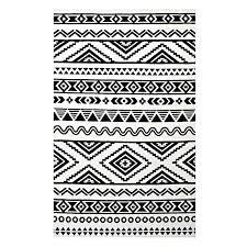 black white gray rug geometric tribal black white area rug