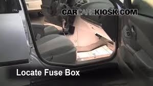 chevy fuse box interior fuse box location 2004 2008 chevrolet bu 2005 locate interior fuse box and remove cover