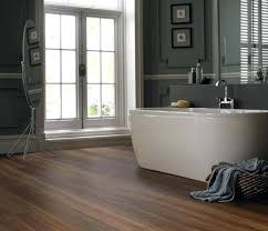High Quality Laminate Flooring For Bathroom Use Laminate Flooring In Bathroom With Dark  Gray Wall Paint Design