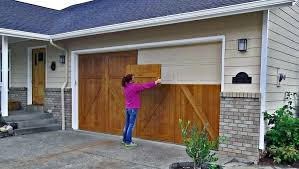 diy garage door give you a wood look without the cost garage diy garage door window